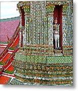 Tower At Temple Of The Dawn-wat Arun In Bangkok-thailand Metal Print