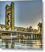 Tower  Bridge 2 Sacramento Metal Print