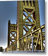 Tower Bridge 4 Sacramento Metal Print
