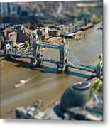 Tower Bridge And London City Hall Aerial View Metal Print