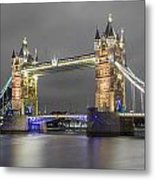Tower Bridge Color Mix Metal Print