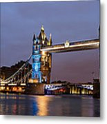 Tower Bridge Illuminated For Je Suis Charlie Metal Print by Ivelin Donchev
