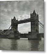 Tower Bridge In London Over The Thames Metal Print