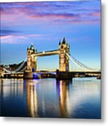 Tower Bridge Located In London Metal Print