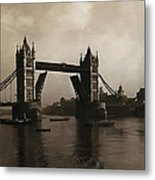 Tower Bridge London 1906 Metal Print