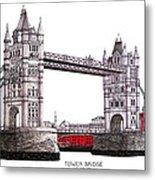 Tower Bridge - London Metal Print