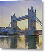 Tower Bridge Sunrise Metal Print