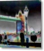 Tower Bridge Surrealism Metal Print