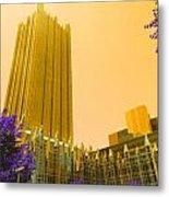Tower Gold Metal Print