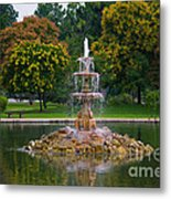 Tower Grove Fountain Metal Print