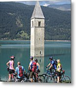 Tower In The Lake Metal Print