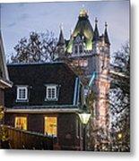 Tower Of London Christmas Tree Metal Print