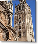 Tower Of The Seville Cathedral Metal Print