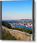 Tower Over The City Triptych Metal Print