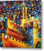 Tower - Palette Knife Oil Painting On Canvas By Leonid Afremov Metal Print