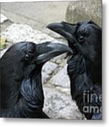 Tower Ravens Metal Print