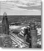 Tower Reflections 2 Bw Metal Print