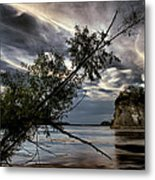 Tower Rock In The Mississippi River Metal Print