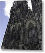 Tower Scaffolding Cologne Cathedral Metal Print