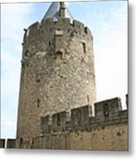 Tower Town Wall - Carcassonne Metal Print