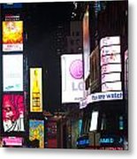 Towering Ads Metal Print