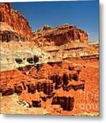 Towers Along The Waterpocket Metal Print