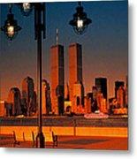 Towers Framed Metal Print