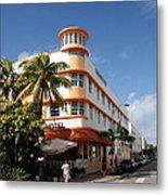 Towers Hotel - Miami Metal Print