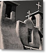 Towers In Sepia Metal Print