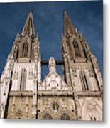 Towers Of St Peter's Cathedral In Old Metal Print