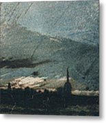 Town At Dusk Metal Print by Victor Hugo