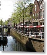 Town Canal - Delft Metal Print