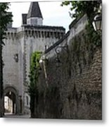 Town Gate - Loches - France Metal Print