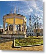 Town Of Bjelovar Central Park Metal Print
