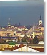 Town Of Bjelovar Winter Skyline Metal Print