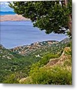 Town Of Karlobag And Island Of Pag Metal Print