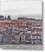 Town Of Primosten Panoramic View Metal Print