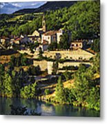 Town Of Sisteron In Provence Metal Print