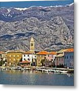 Town Of Vinjerac In Front Of Paklenica National Park Metal Print