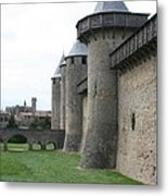 Town Wall - Carcassonne Metal Print