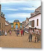 Townsfolk On Street To The Sea In Louisbourg Living History Museum-174 Metal Print