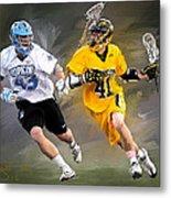 College Lacrosse 7 Metal Print