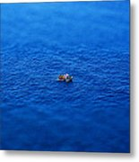 Toy Boat On Imaginary Water Metal Print by John Magnet Bell