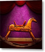 Toy - Hobby Horse Metal Print by Mike Savad
