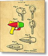 Toy Ray Gun Patent II Metal Print