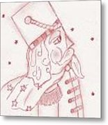 Toy Soldier Nutcracker In Red Metal Print