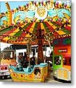 Toy Town Carousel  Metal Print