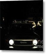 Toyota Fj Holiday Lights Metal Print