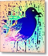 The Fragile Traces Of A Lost Seagull  Metal Print