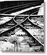 Tracks Metal Print by Alan Oliver